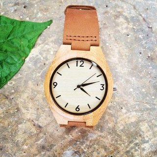 wooden watch bamboo color brown