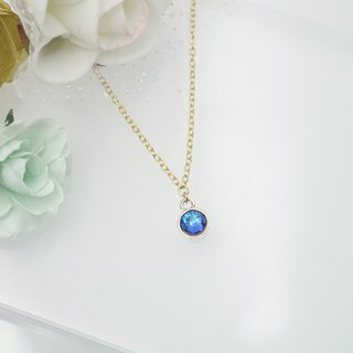 Swarovski Crystal Necklace (Color: Navy Blue)