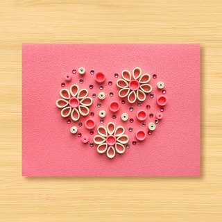 Hand-rolled paper luminous card _ warm affection A ... mother card, lover card, wedding card