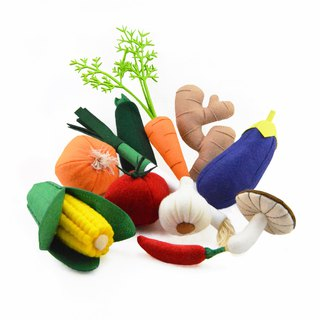 VEGGIES SET felt toys