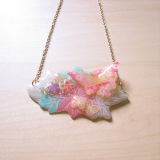 Dielian // 2nd use Accessories / cloth accessories / handmade / hand made necklace / Butterfly Necklace