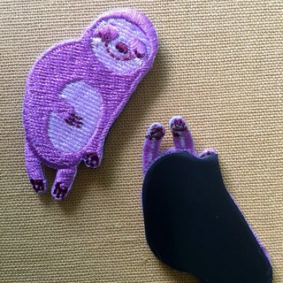 Cloth embroidered magnet sloth sleepless sloth series (single)