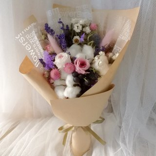 【French Elegant (Cow/English)-Medium Bouquet】Straw Bouquet for Valentine's Day Bouquet