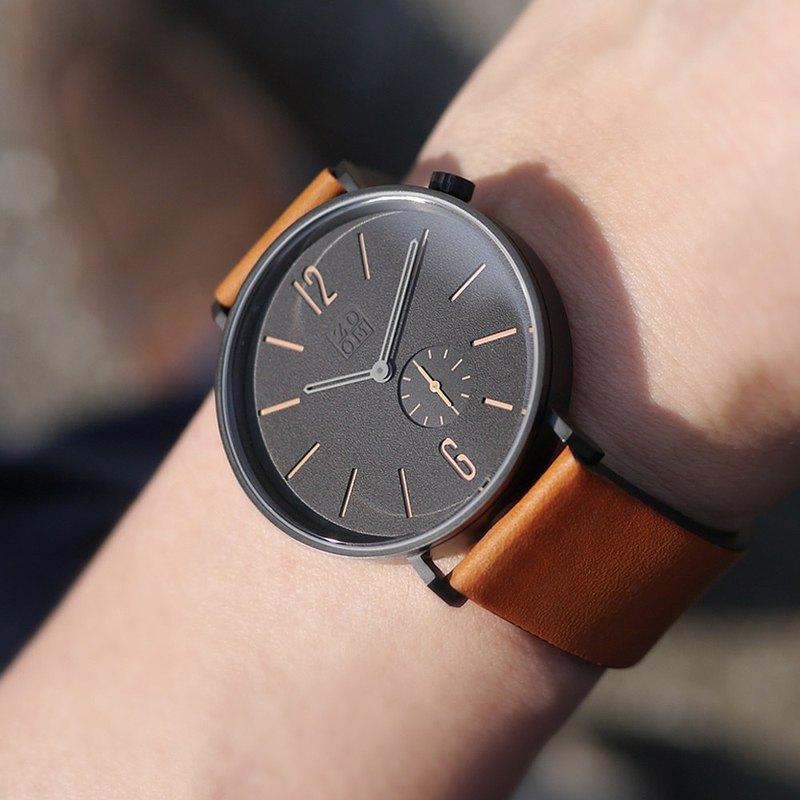 LEAK 3880  黎刻簡約小秒手錶 - 橙棕色