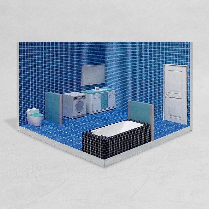 紙模型 - Bathroom #001 - DIY dollhouse paper model