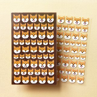 Red Shiba Inu Emoticon Stickers