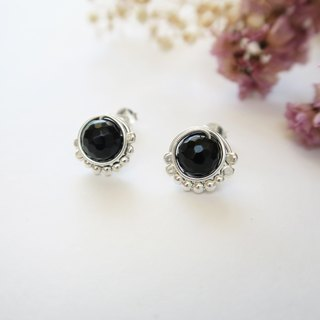 925 Silver Gorgeous Black Agate Earrings-Sold as a Pair