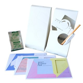 Pin Cards - Summer Frame Card Kit Frame cards + film + paper pencil + pen container