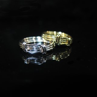 Winwing wire braid Ring - Ring [three] line. Commemorative ring. Valentine's Ring