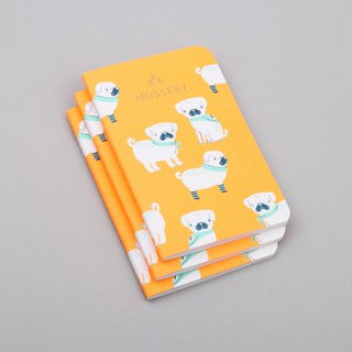 Pugs Neon Orange Pocket Notebook