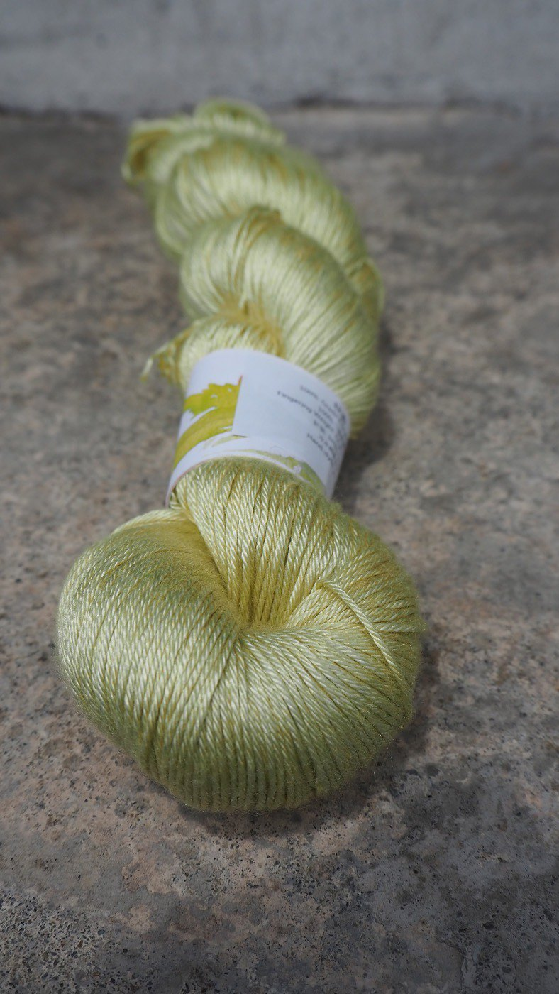 Hand dyed silk thread. Qiuxiang