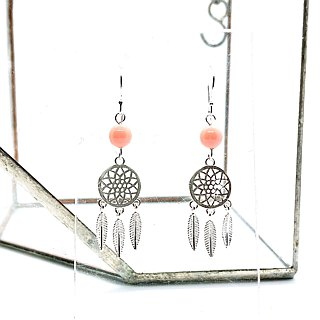 Dream Catcher Silver 925 & Swarovski Crystal Earrings