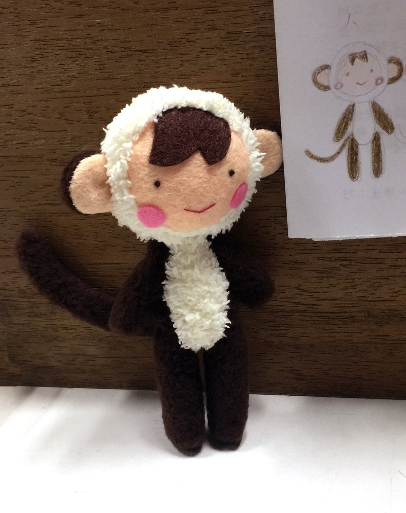 양서 형 custom - Little Monkey puppet