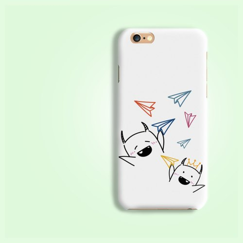 Hand drawing Monsters play paper plane hard Phone Case Cover iPhone X 8 8+ S8 S7