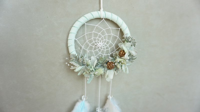 Dreamcatcher series eternal flower dry flower Christmas mini pine cone joint name mint green