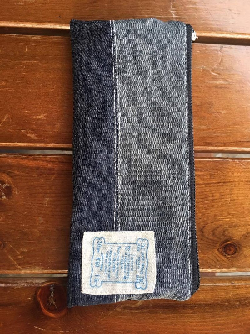 Gift denim pencil storage