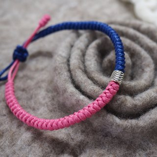 Two-color wax line hand rope bracelet