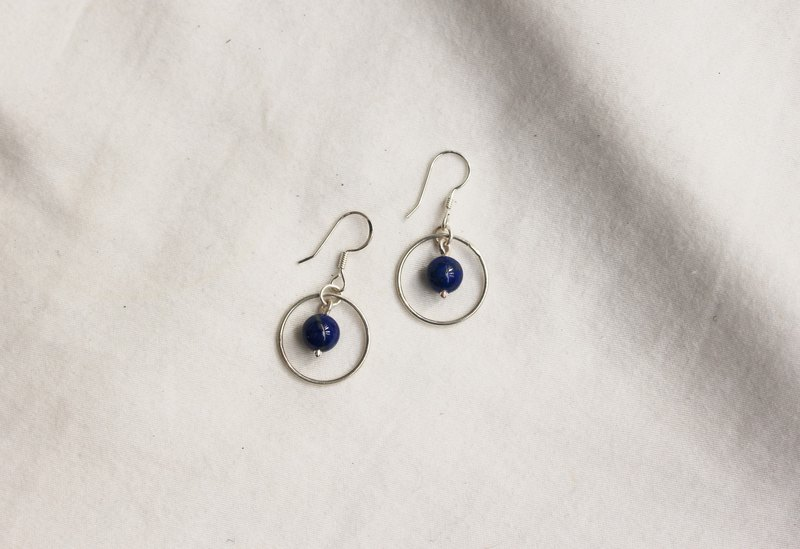 Kawagoe Galaxy Night Ear Hook Earrings Handmade Limited Edition