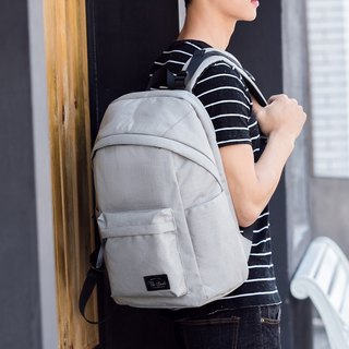 Hong Kong brand casual backpack waterproof simple design Eagle - silver gray
