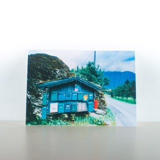 Photographic Postcard: Mailbox, Lofthus, Hordaland, Norge
