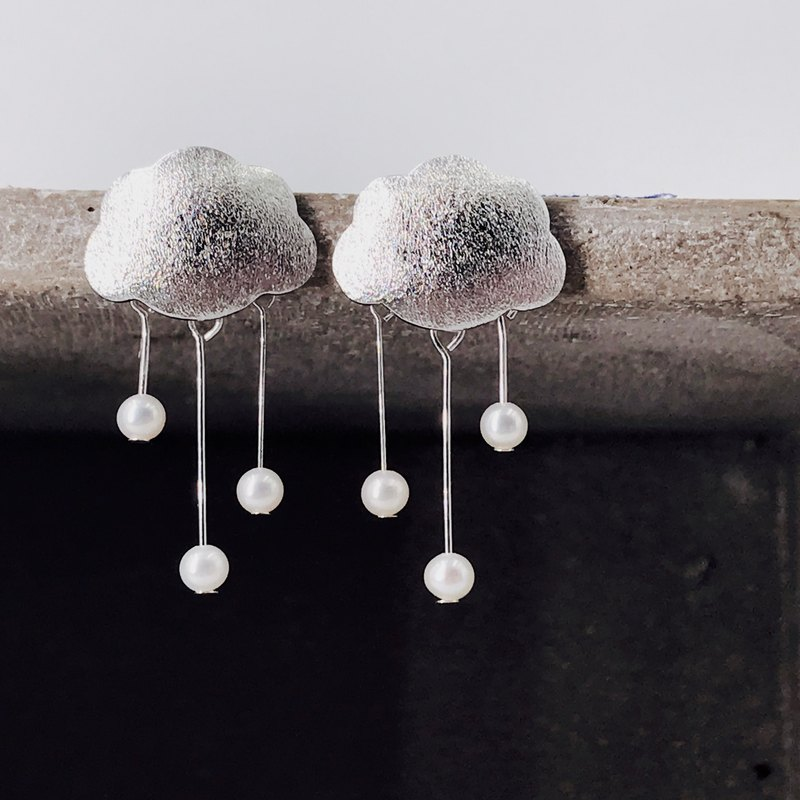 The Somersault Silver & Fresh Water Pearl Earrings