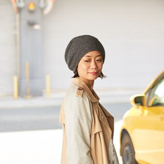Made in Japan Wool & Silk Beanie for Autumn/Fall and Winter, Slouch Hat