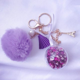 Purple is covered with a star key ring / gift / stars