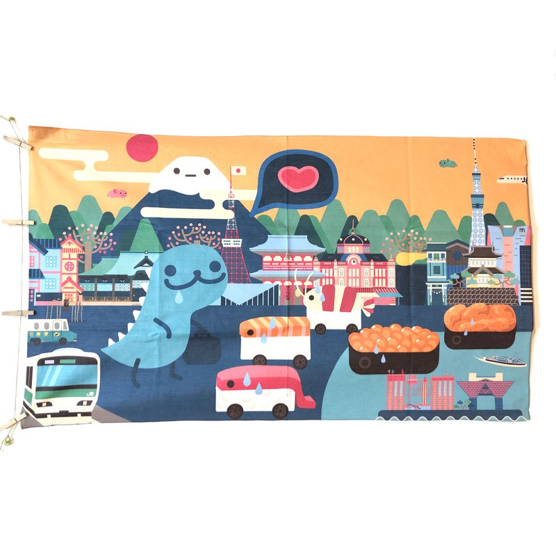 Lonely Planet Towel-Single Nylon Tokyo Sushi-Made after Order-No Returns Accepted