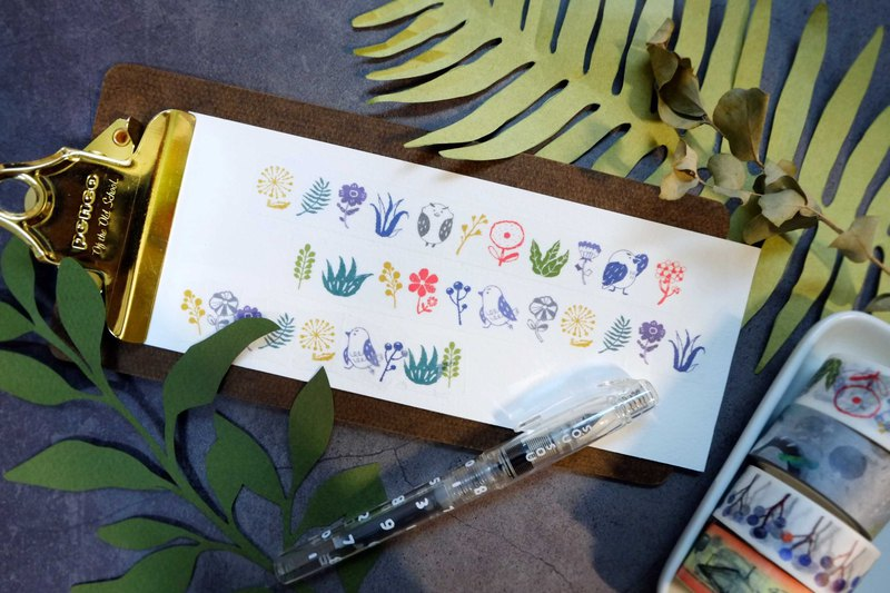 Pixel life plant series Japanese and paper wide paper tape