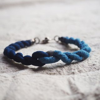 indigo bracelet | cotton dye two shade of natural indigo
