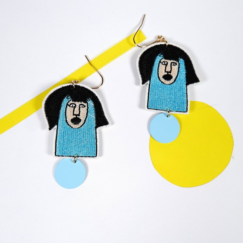 Morning Lucky 4-embroidery earrings