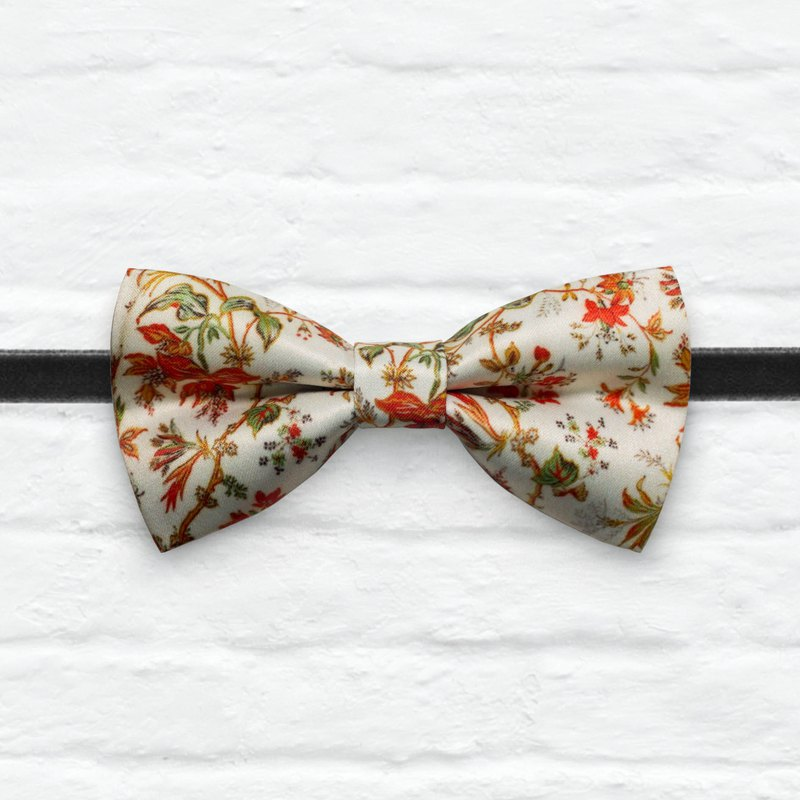 Style 0362 Phoenix Bloom Red Flame Tree Printed Bowtie -  Gift& Wedding Bowtie