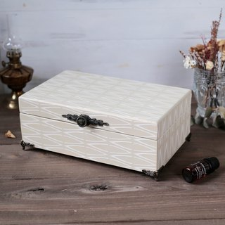 French nostalgia lattice wooden oil wooden box dip pen ink cartridge jewelry jewelry box