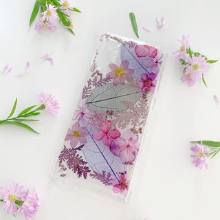 Pure purple dry flower phone case