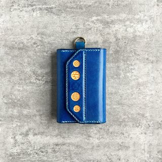 Handmade navy keycase / key holder / Personalized free