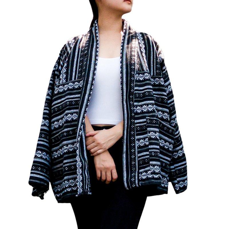 黑色開衫/休閒西裝外套/復古外套/防曬外套/加大碼外套