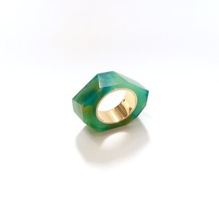 PRISM ring gold, green