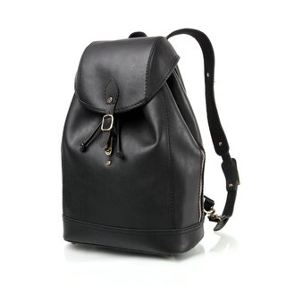 JIMMY RACING Era Trend Leather Backpack - Black 04166031