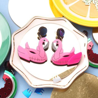 Flamingo Float Earrings