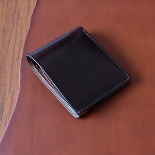 Short clip Horween shell cordovan wallet horse hips (Color 8)**left to replace the photo layer**