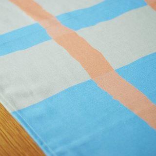 Reduce the simple tablecloth / big long towel waterproof paint orange blue