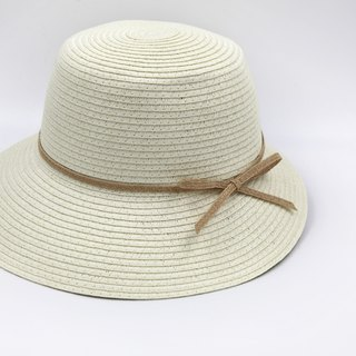 [Paper cloth home] Hepburn hat (white) paper line weaving