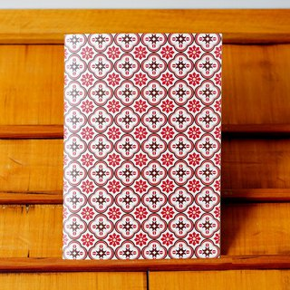 Old House Eye – Haiyan Embossed Glass Notebook – Red