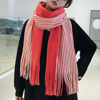 Christmas gift customizable embroidered lettering red striped scarf shawl Valentine's Day birthday gift