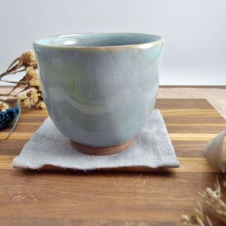 Blue cat color porcelain small cup