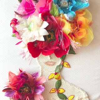 Fliers de rave 〜 Dream of flowers 〜 embroidery flower handmade beads