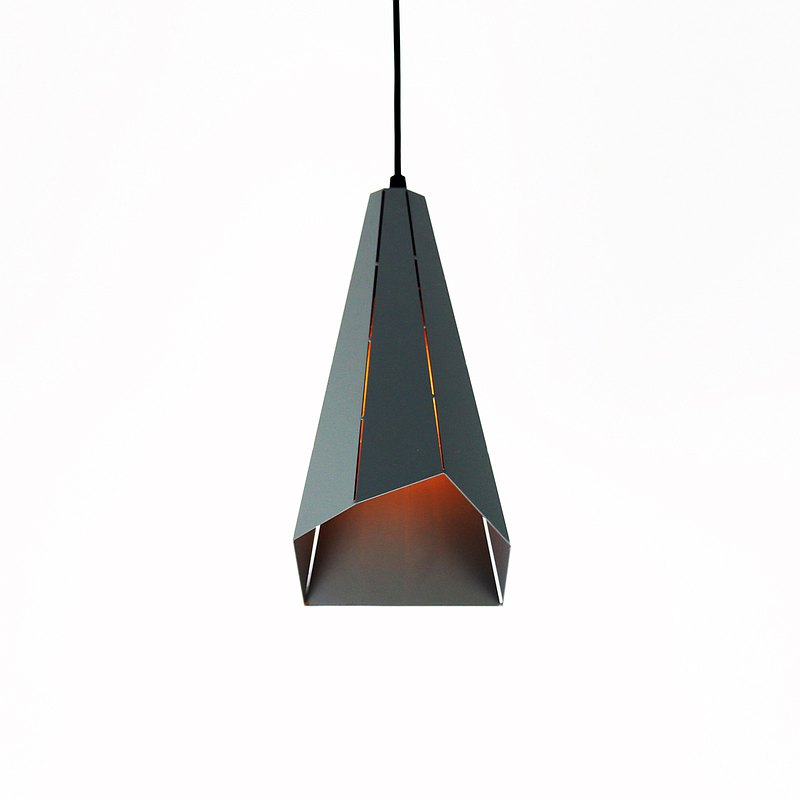 Dusk Grey Irregular Angle Geometric Chandelier-Type A PL-2020