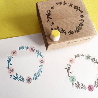 Multicolor press Circular frame stamp