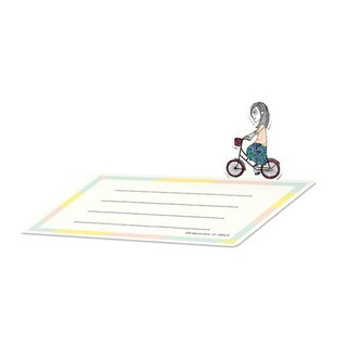 Dorothy small card can be vertical - bicycle (9AAAU0013)