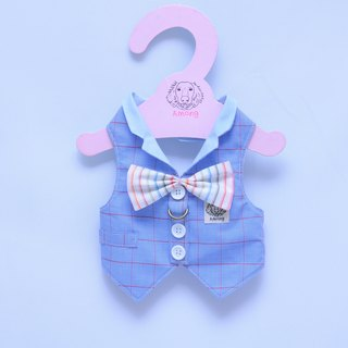 Among_dog harness_Plaid suit BOW tie(small size)